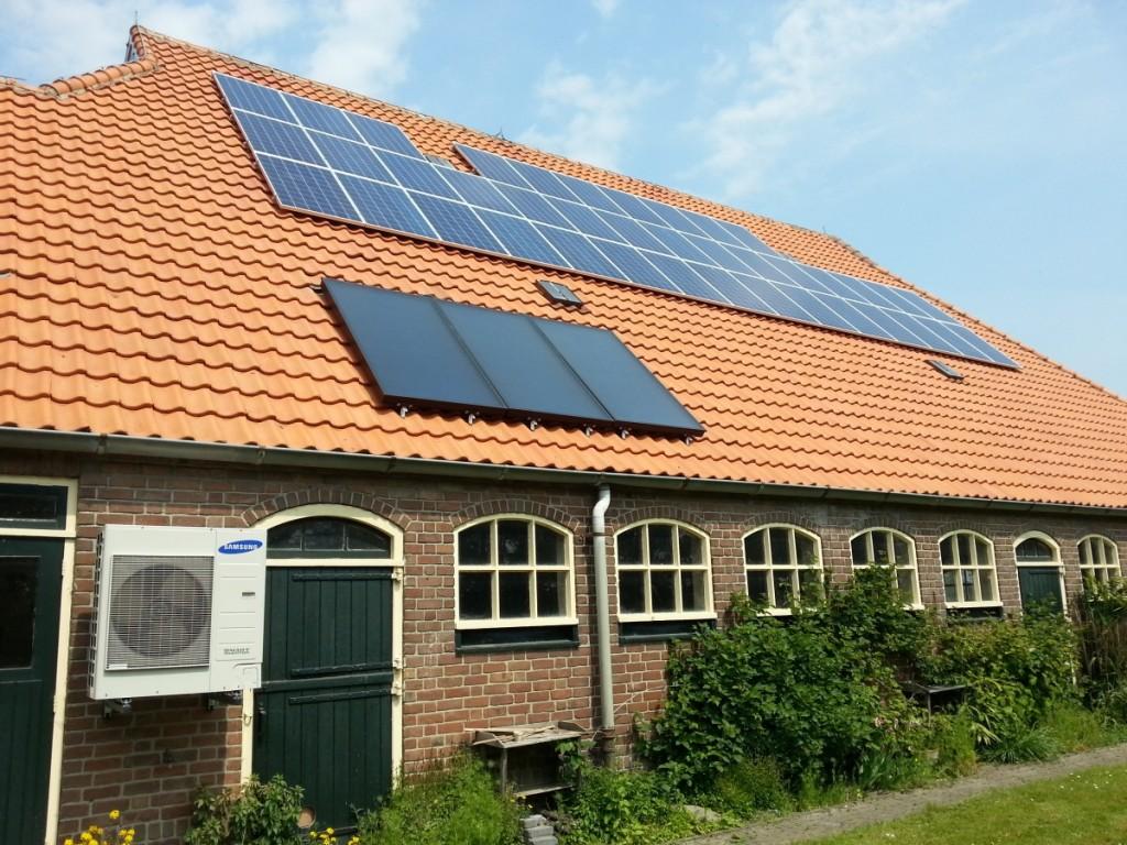 Warmtepomp, zonnecollectoren, buffervat en PV-systeem; Wieringermeer